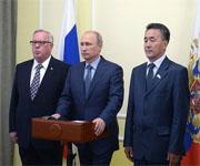 Путин на запуске Кош-Агачской СЭС