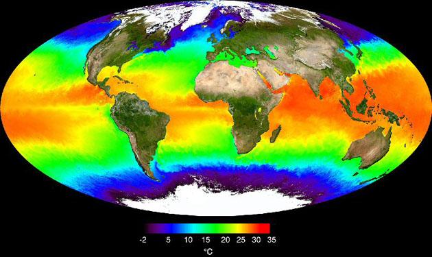 Температура вод Мирового океана